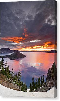 Crater Lake Dawn Canvas Print by Greg Nyquist