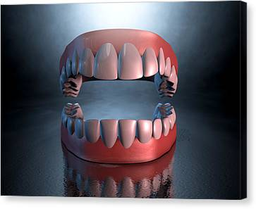 Creepy Canvas Print - Creepy Teeth  by Allan Swart
