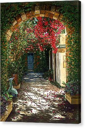 Crimson Canopy Canvas Print by Doug Kreuger