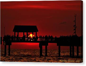 Canvas Print featuring the photograph Crimson Sunset by Richard Zentner