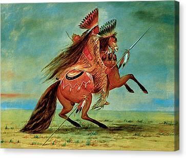 Crow Chief Canvas Print by George Catlin