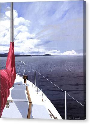 Canvas Print featuring the painting Cruising North by Gary Giacomelli