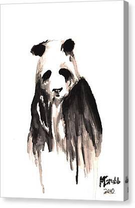 Crying Panda Canvas Print by Michael Grubb