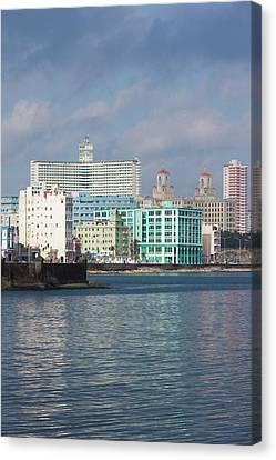 Cuba, Havana, Vedado, Elevated View Canvas Print