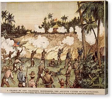 Cuba San Juan Hill, 1898 Canvas Print by Granger