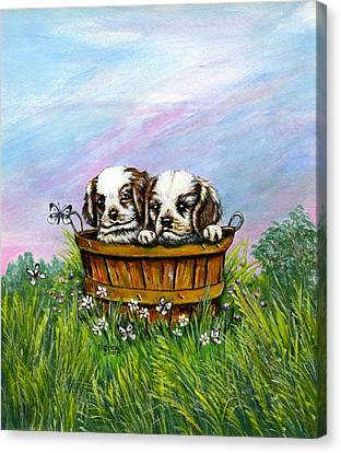 Curious Little Buddies.  Canvas Print