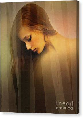 Curtain Beauty Canvas Print by Robert Foster