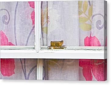 Curtain Canvas Print by Tom Gowanlock