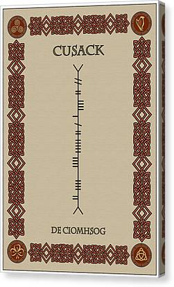 Cusack Written In Ogham Canvas Print