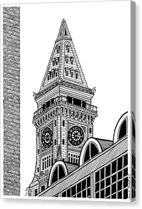 Custom House Tower Canvas Print by Conor Plunkett