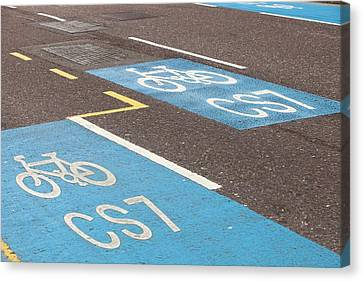 Cycle Superhighway Canvas Print