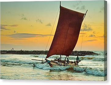 Daily Journey Canvas Print by Dumindu Shanaka