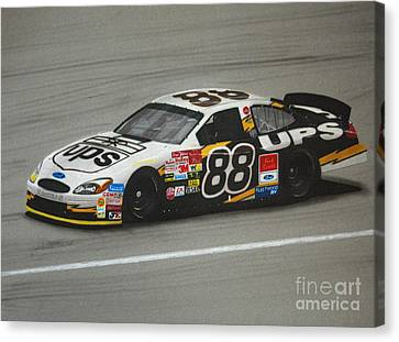 Dale Jarrett Ups Ford Canvas Print by Paul Kuras