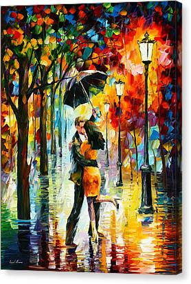 Dance Under The Rain Canvas Print by Leonid Afremov