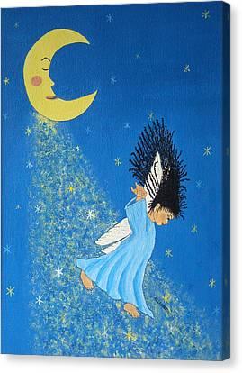 Dancing On Moonbeams Canvas Print by Pamela Allegretto