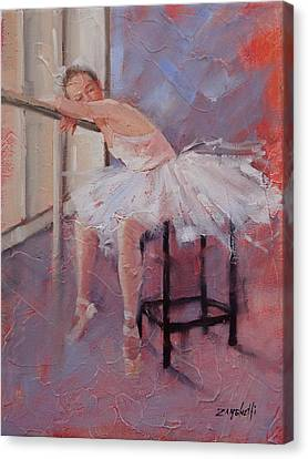 Ballet Dancers Canvas Print - Day Dreamer by Laura Lee Zanghetti