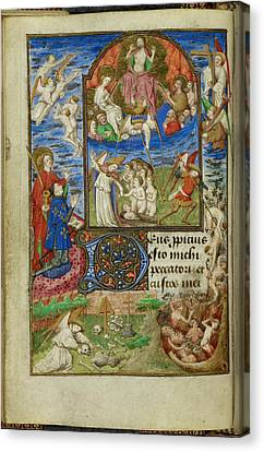 Baptising Canvas Print - Day Of Judgement by British Library