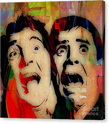 Dean Martin Jerry Lewis Collection Canvas Print by Marvin Blaine