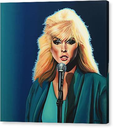 Deborah Harry Or Blondie Painting Canvas Print by Paul Meijering