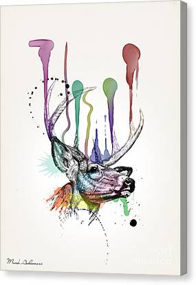 Drips Canvas Print - Deer by Mark Ashkenazi