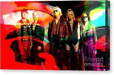 Def Leppard Canvas Print by Marvin Blaine