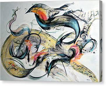 Defense Of Liberty Canvas Print by Asha Carolyn Young