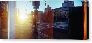 Delancey Street At Sunrise, Lower East Canvas Print by Panoramic Images