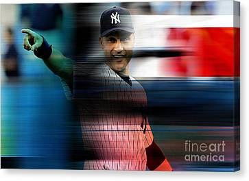 Derek Jeter Canvas Print by Marvin Blaine