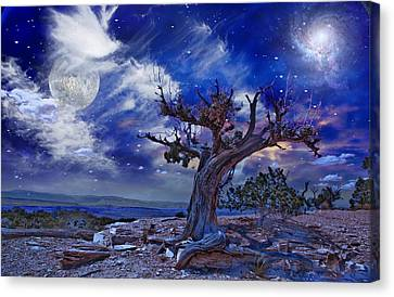 Canvas Print featuring the digital art Desert by Bruce Rolff