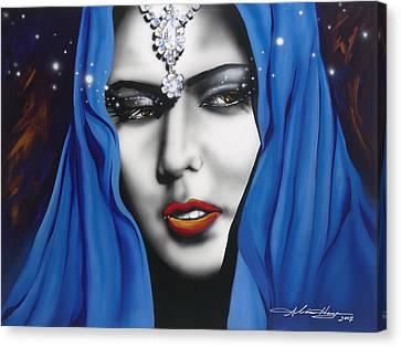Jordan Canvas Print - Desert Moon by Alicia Hayes