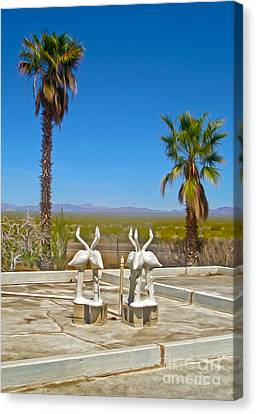 Desert Oasis Canvas Print by Gregory Dyer