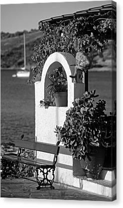 Yachts Canvas Print - Details In Aegina Island by George Atsametakis