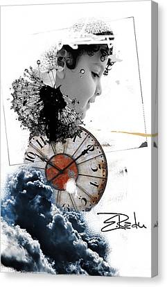 Digital Art - Er Ink  Canvas Print by Enache  Radu