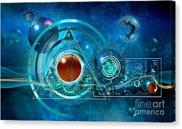 Digital Genesis Canvas Print by Franziskus Pfleghart