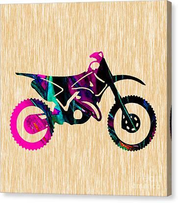 Dirt Bike Art Canvas Print by Marvin Blaine