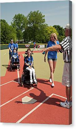 Disabled Baseball Game Canvas Print