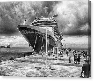 Canvas Print featuring the photograph Disney Fantasy by Howard Salmon