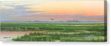 Canvas Print featuring the painting Divine Whisper by Mike Brown