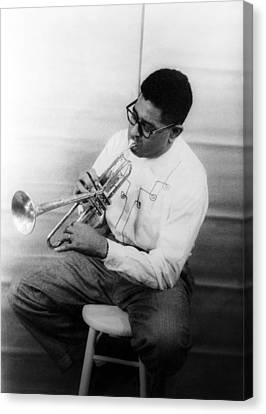 Dizzy Gillespie (1917-1993) Canvas Print by Granger