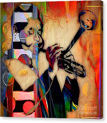 Trumpet Canvas Print - Dizzy Gillespie Collection by Marvin Blaine