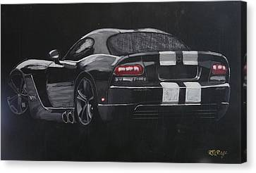 Canvas Print featuring the painting Dodge Viper 1 by Richard Le Page