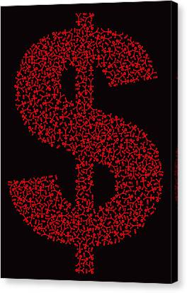 Dollar People Icon Canvas Print