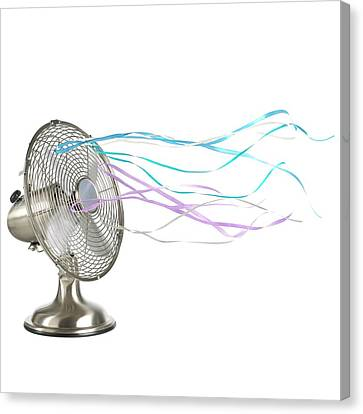 Domestic Fan Showing Air Movement Canvas Print