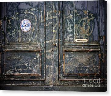 Door With Peeling Paint Canvas Print by Bernard Jaubert