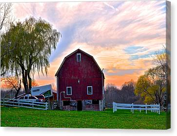 Down On The Farm Canvas Print by Frozen in Time Fine Art Photography