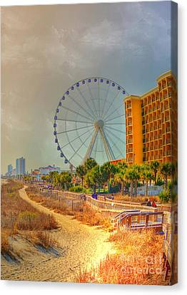 Downtown Myrtle Beach Canvas Print by Kathy Baccari