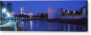Downtown Wichita Viewed From The Bank Canvas Print