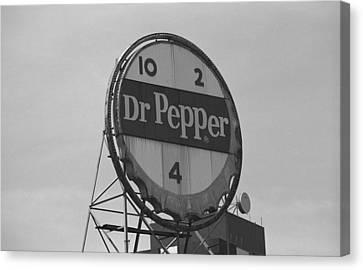 Dr. Pepper Bottle Top Canvas Print
