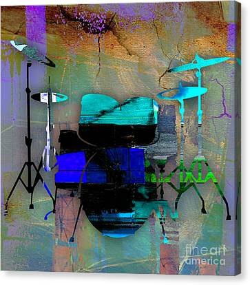 Drums Canvas Print - Drums by Marvin Blaine