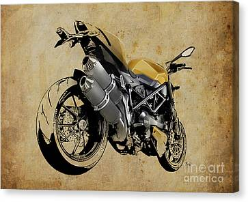 2012 Canvas Print - Ducati Streetfighter 848 2012 by Pablo Franchi